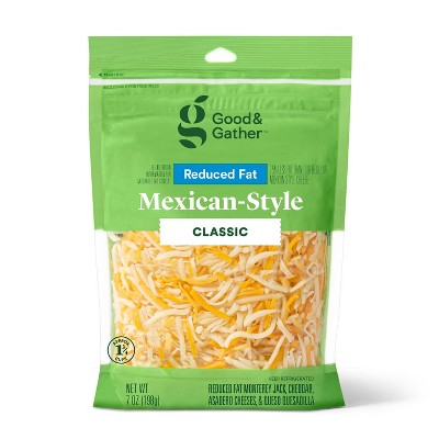 Shredded Reduced Fat Mexican-Style Cheese - 7oz - Good & Gather™