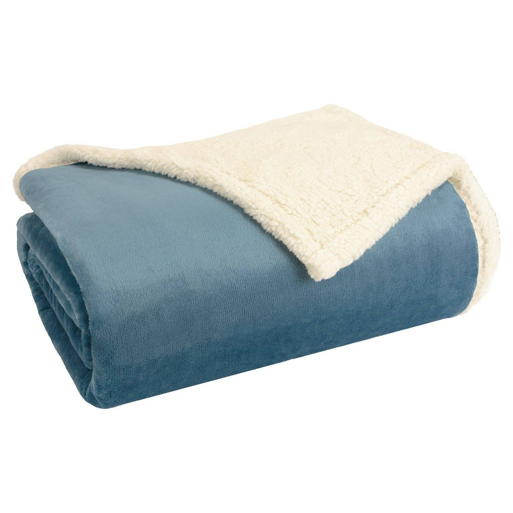 Twin Microlight To Berber Bed Blanket Blue