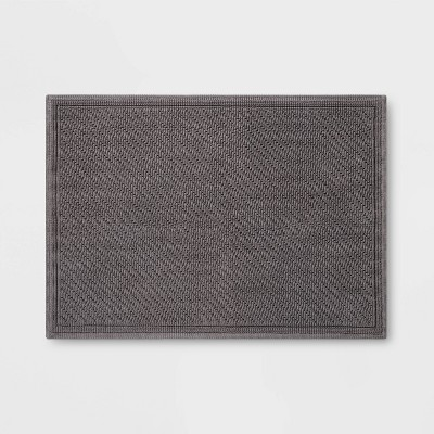 "21""x30"" Performance Solid Bath Mat Dark Gray - Threshold™"