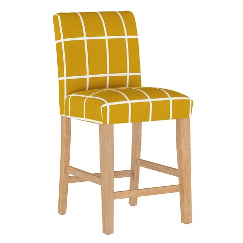 Counter Stool Rectangle Grid Mustard - Cloth & Company - image 1 of 4