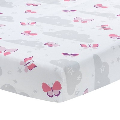 Bedtime Originals Butterfly Kisses Fitted Crib Sheet