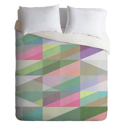 Mareike Boehmer Nordic Combination 8 XY Lightweight Duvet Cover Queen Green - Deny Designs®