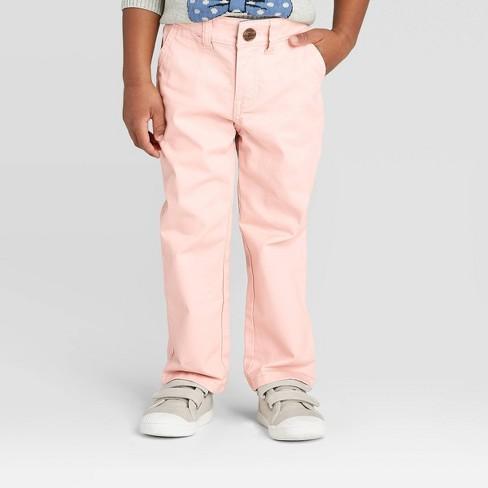 Toddler Boys' Chino Pants - Cat & Jack™ Pink - image 1 of 3