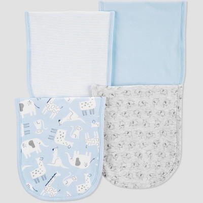 Baby Boys' 4pk Burp Blue Burp Cloth Set - Just One You® made by carter's Blue