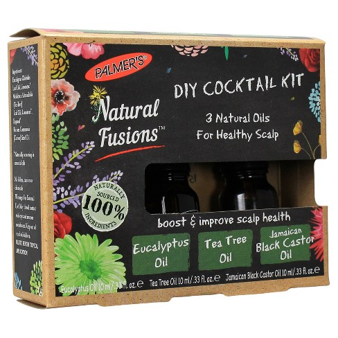 Palmer's Natural Fusions DIY Cocktail Kit, 3 Natural Oils for Healthy Scalp - 0.33 fl oz - image 1 of 4