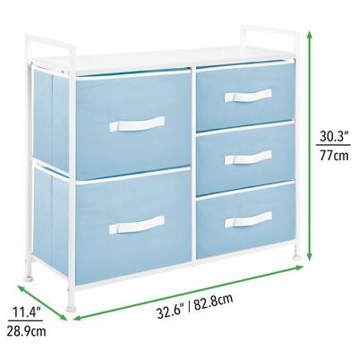 MDesign Wide Dresser Storage Tower Organizer Unit, 5 Drawers : Target
