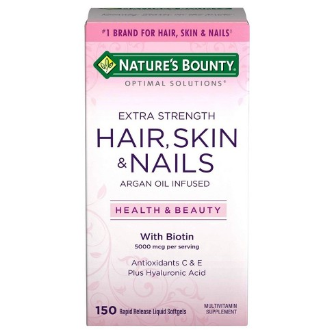 Optimal Solutions Extra Strength Hair Skin and Nails Dietary Supplement Softgels - 150ct - image 1 of 1
