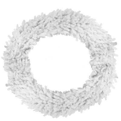 "Darice 72"" Unlit Huge White Canadian Pine Artificial Christmas Wreath"