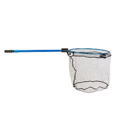 CLAM 14670 Fortis Walleye Fishing Angling Landing Net with 65.3 Inch Telescoping Handle, Conservation Focused Design, and Rubberized Coating