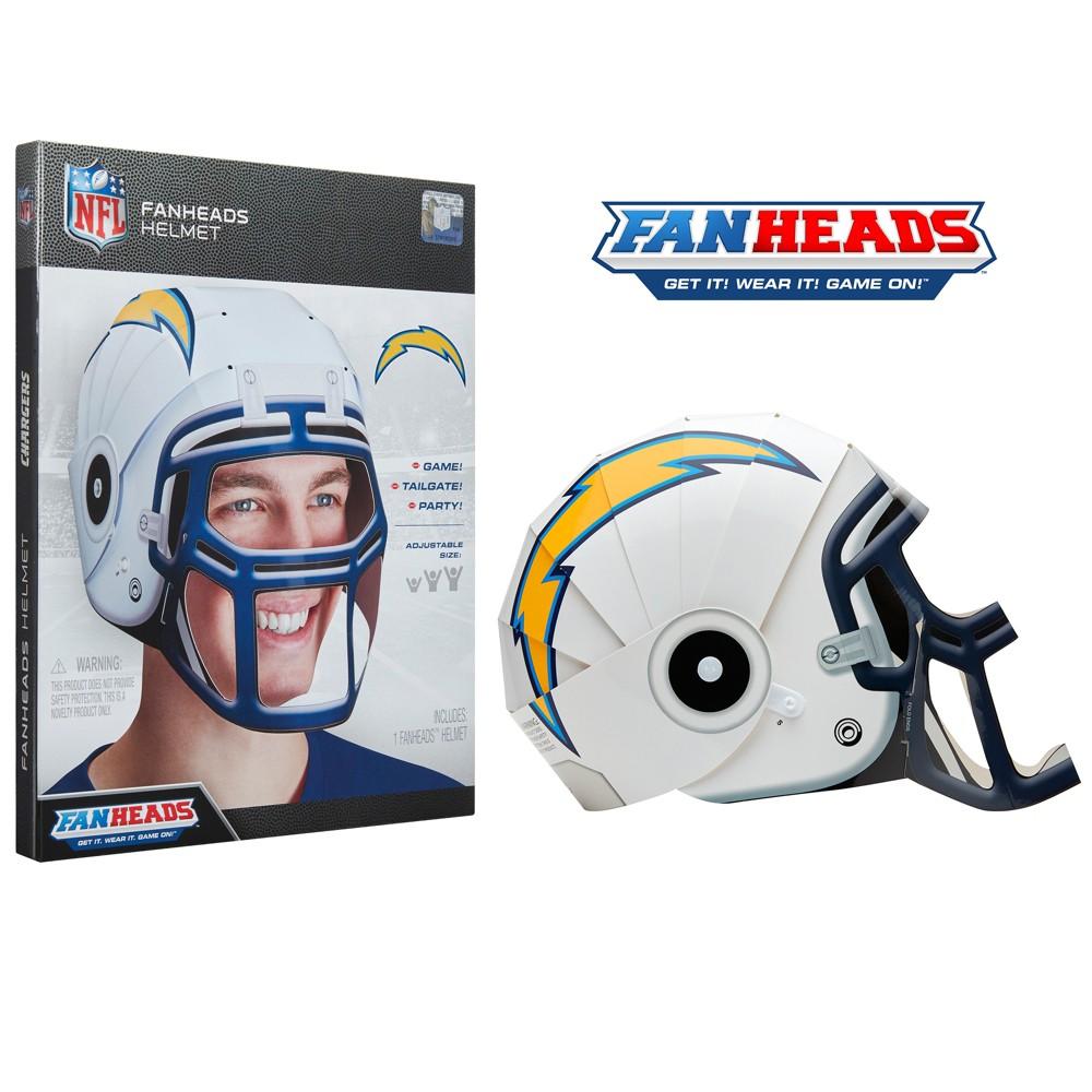 NFL Los Angeles Chargers FanHeads Laminate Paper Football Helmet, Adult Unisex
