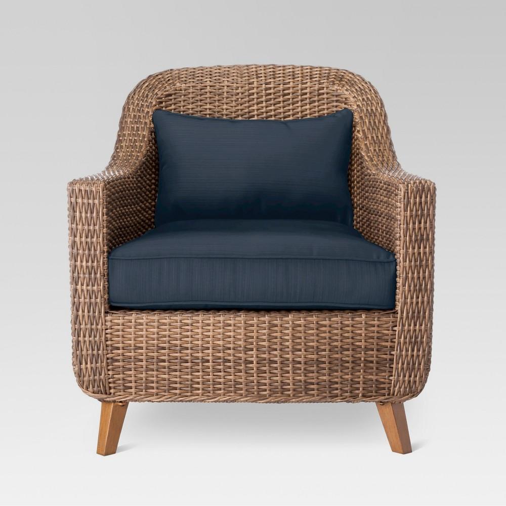 Mayhew Wicker Patio Club Chair- Navy (Blue) - Threshold