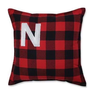 Buffalo Plaid 'N' Throw Pillow Red/Black - Pillow Perfect