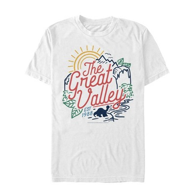 Men's The Land Before Time Colorful Great Valley Line T-Shirt