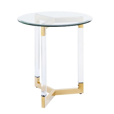 Charmant Sarling Round Acrylic Accent Table   Aiden Lane : Target