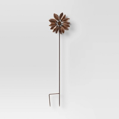 """32"""" Iron Flower Garden Stake Copper - Smith & Hawken™"""