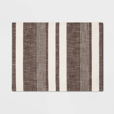 19 x14  Woven Stripe Placemat Brown - Project 62™