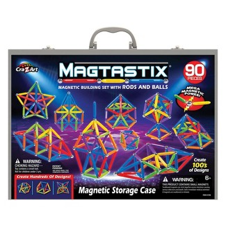Magtastix Magnetic Building Set with Rods and Balls - 90pc