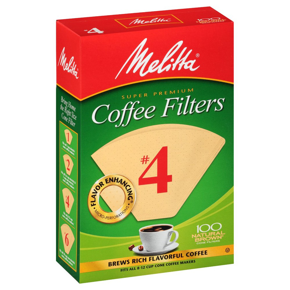 Melitta Natural Brown #4 Coffee Filter 100ct