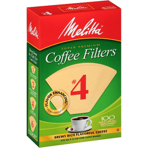 Melitta Natural Brown #4 Coffee Filter 100ct - image 1 of 1