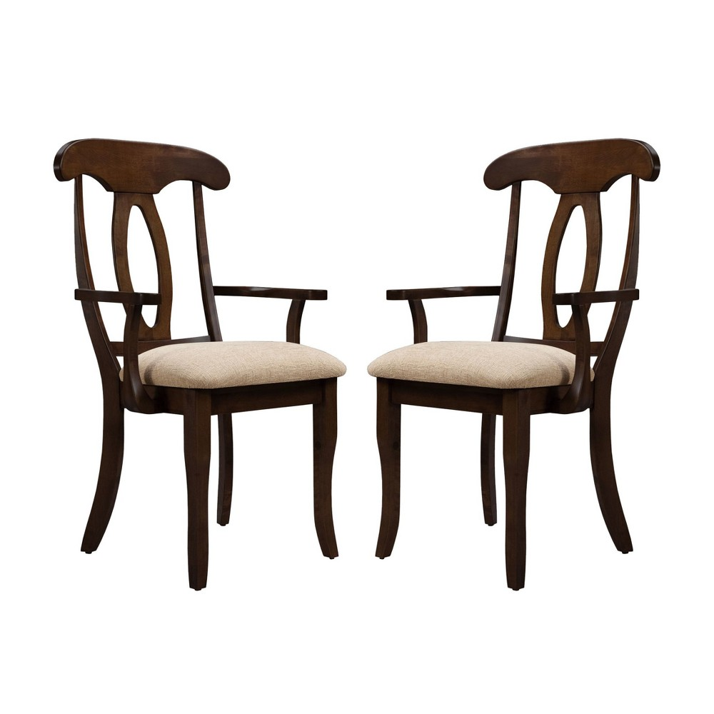 Napoleon Uph Seat Armchair (Set of 2) Espresso - Shermag, Expresso