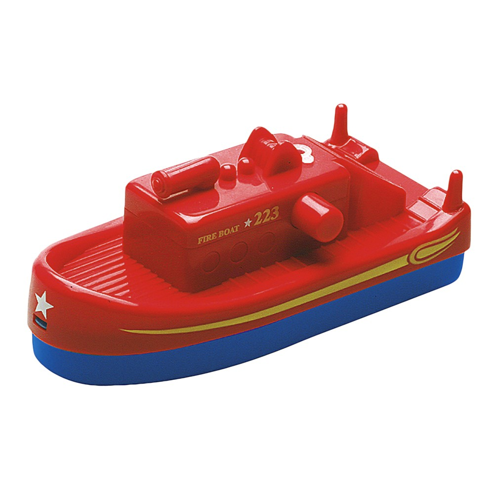 Aquaplay Squirting Fireboat Vehicle, Multi-Colored