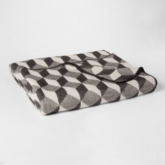 King Modern Printed Bed Blanket Black/White - Project 62™ + Nate Berkus™