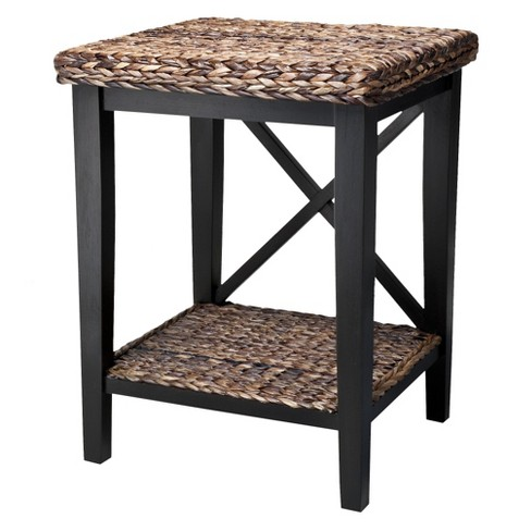 Andres Seagrass Nightstand - Espresso - image 1 of 4