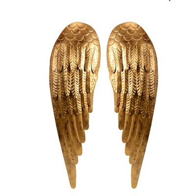 Metal Wings Decorative Wall Sculpture Light Gold - Opalhouse™