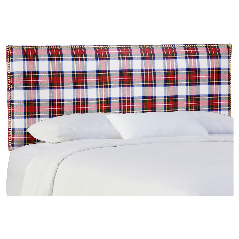 Full Arcadia Nailbutton Patterned Headboard Stewart Dress Skyline Furniture