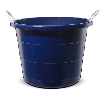 Large Plastic Toy Storage Tub Navy - Pillowfort™