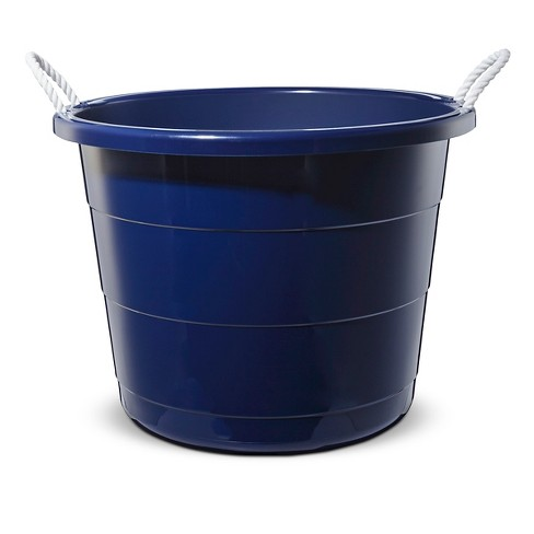 plastic storage tub large navy pillowfort target