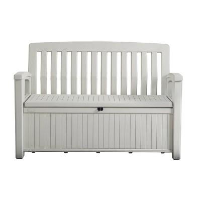 60gal Patio Storage Bench Deck Box White - Keter