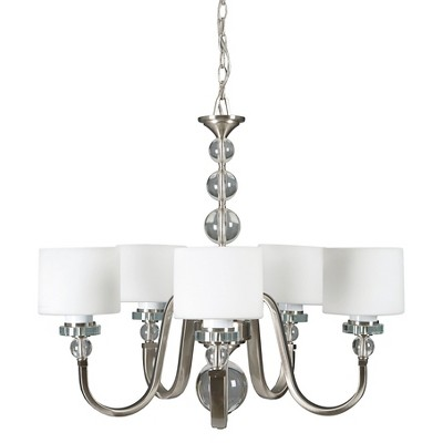 Yosemite 5-Light Chandelier - Satin Steel