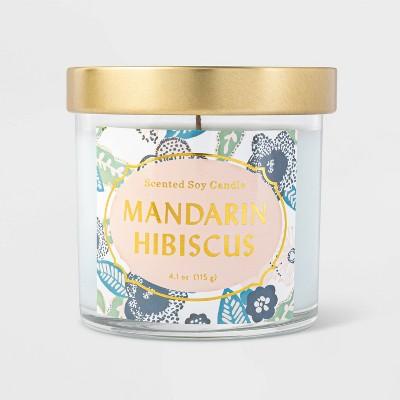 4.1oz Lidded Jar Mandarin Hibiscus Candle - Opalhouse™