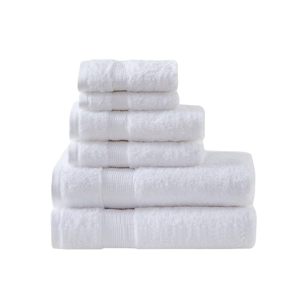 """Image of """"30""""""""x54"""""""" 6pc Luxor Egyptian Cotton Towel Set White"""""""