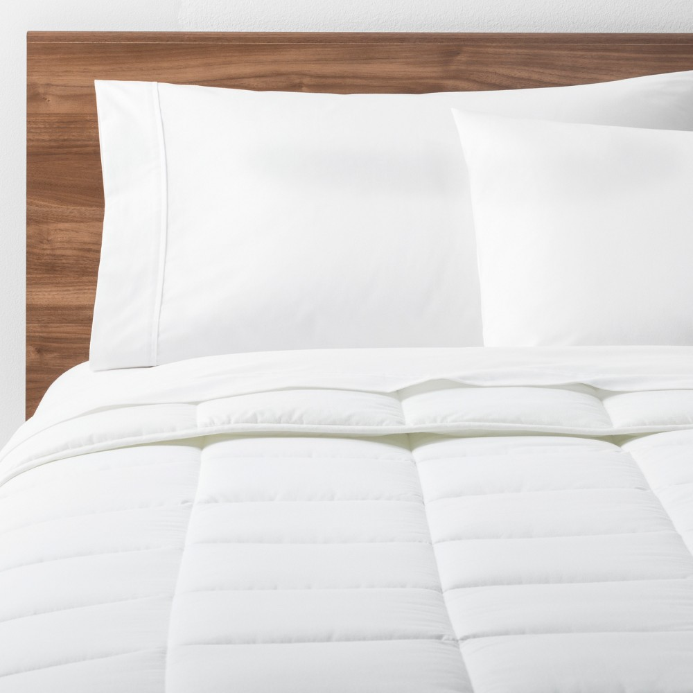 Image of White Solid Down Alternative Comforter (Twin XL) - Made By Design , Size: Twin Extra Long