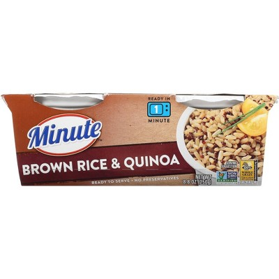 Minute Rice Gluten Free to Serve Brown Rice & Quinoa Cups -2ct