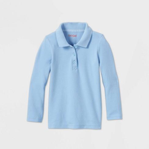 Toddler Girls' Long Sleeve Interlock Uniform Polo Shirt - Cat & Jack™ - image 1 of 2