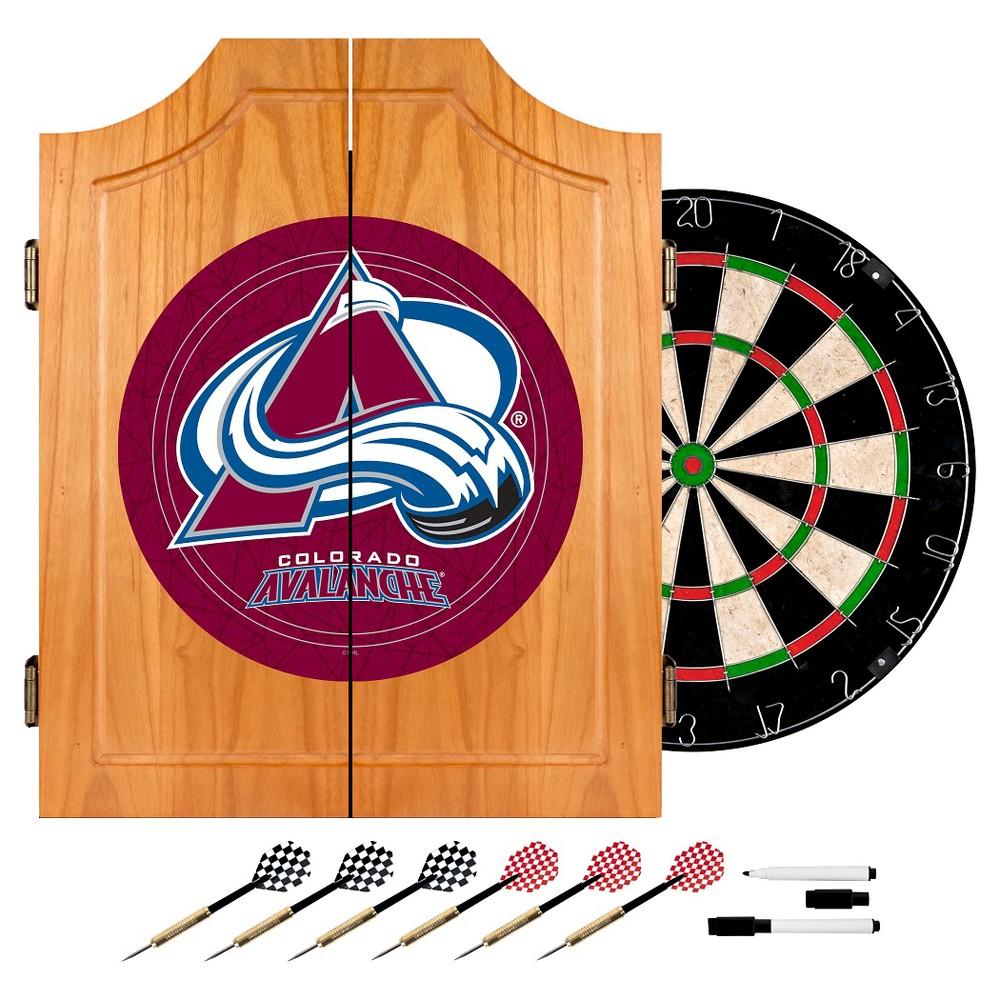 Colorado Avalanche Wood Dart Cabinet Set