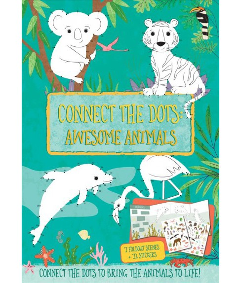 Connect the Dots : Awesome Animals (Paperback) (Courtney Acampora) - image 1 of 1