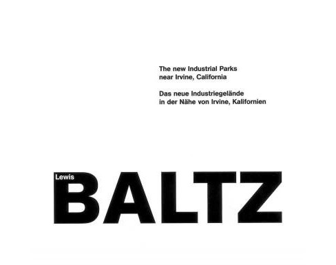 Lewis Baltz : The New Industrial Parks -  (Hardcover) - image 1 of 1