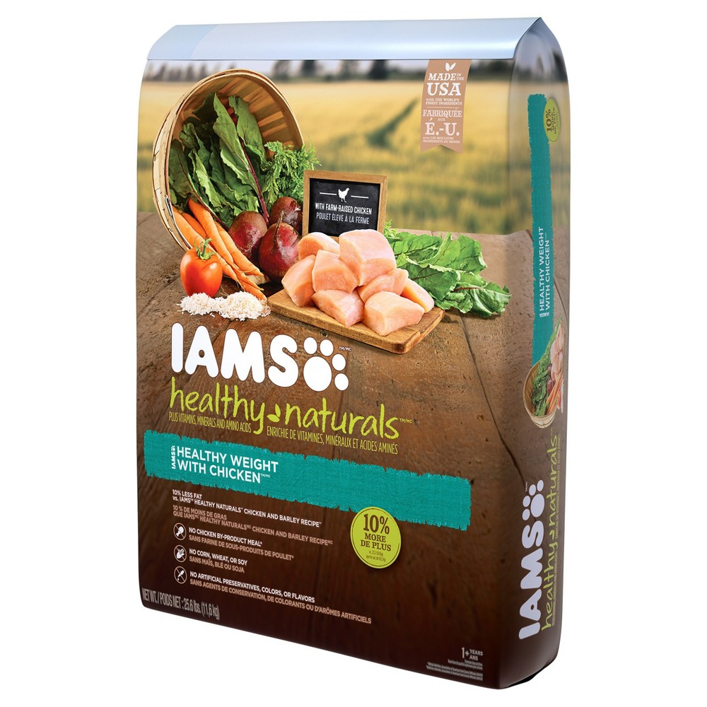 Iams Healthy Naturals Adult Weight Management Chicken Flavor - Dry Dog Food - 25.6lbs