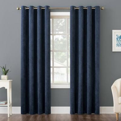 Level Plush Corduroy Room Darkening Grommet Top Curtain Panel - No. 918