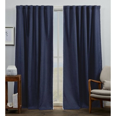 Set of 2 Marabel Lined Blackout Hidden Tab Top Curtain Panel - Exclusive Home
