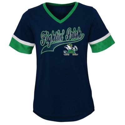 NCAA Notre Dame Fighting Irish Girls' Short Sleeve V-Neck T-Shirt