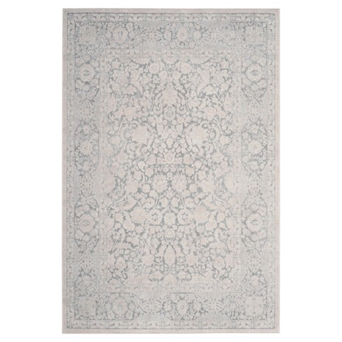 Light Gray/Cream Floral Loomed Accent Rug 3'X5' - Safavieh - image 1 of 3