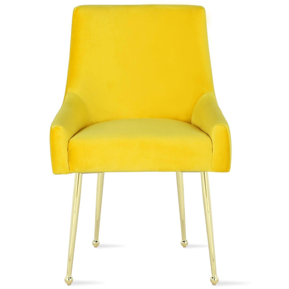 Image of 2pc Huxley Dining Chairs Mustard - Novogratz, Yellow