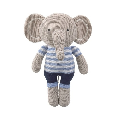 Nojo Cuddle Knit Elephant Throw Pillow - image 1 of 4