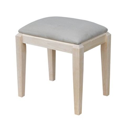 Vanity Bench Unfinished - International Concepts - image 1 of 4