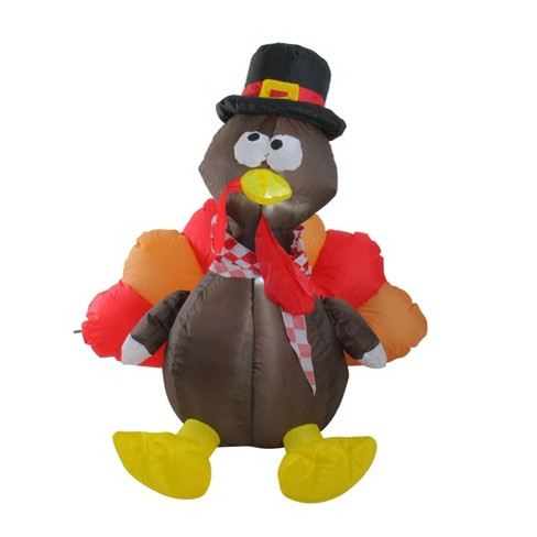 Northlight 4' Inflatable Lighted Thanksgiving Turkey Outdoor Decoration - image 1 of 2